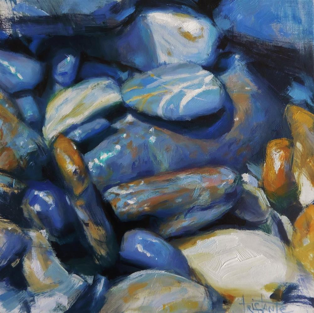 """Stone landscape"" original fine art by Víctor Tristante"