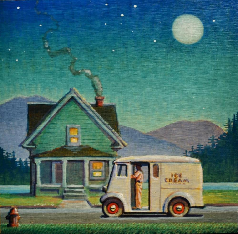 """Ice Cream Man"" original fine art by Robert LaDuke"