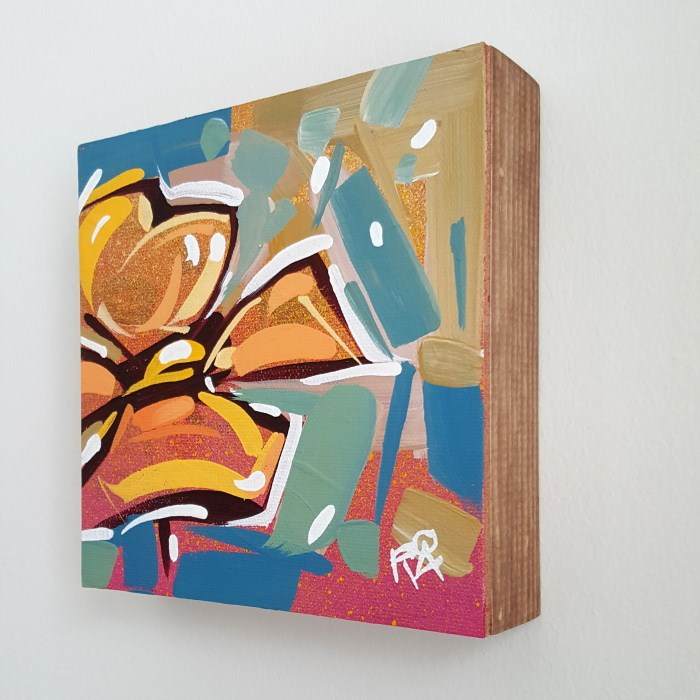 """Flower abstraction 138 - Framed"" original fine art by Roger Akesson"