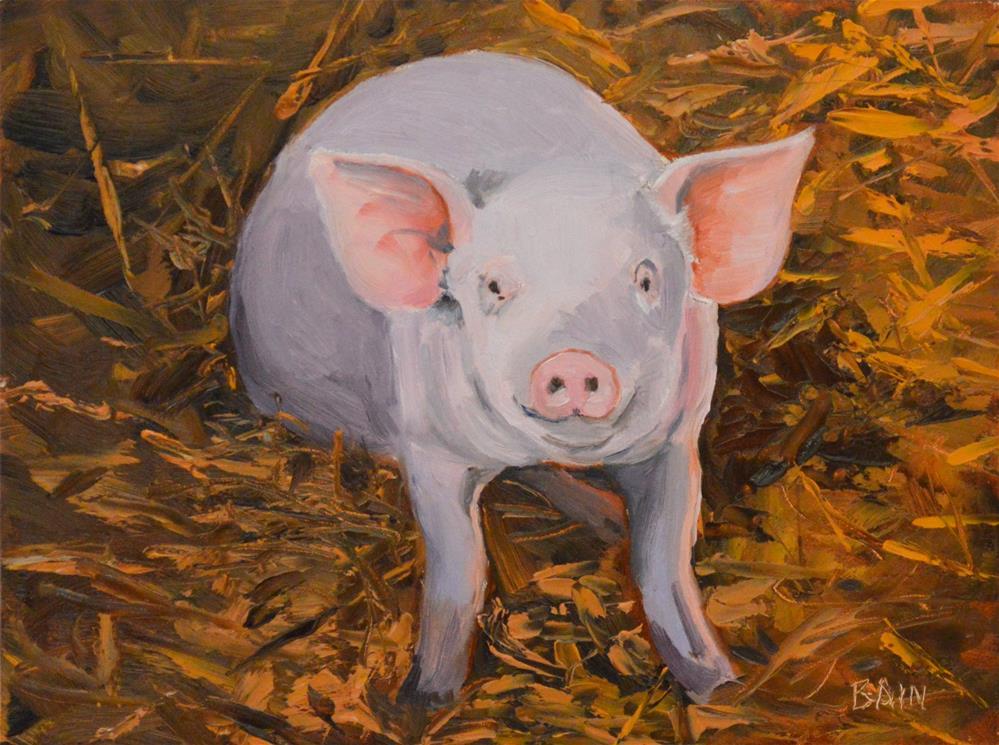 """""""Look at Me"""" original fine art by Peter Bain"""