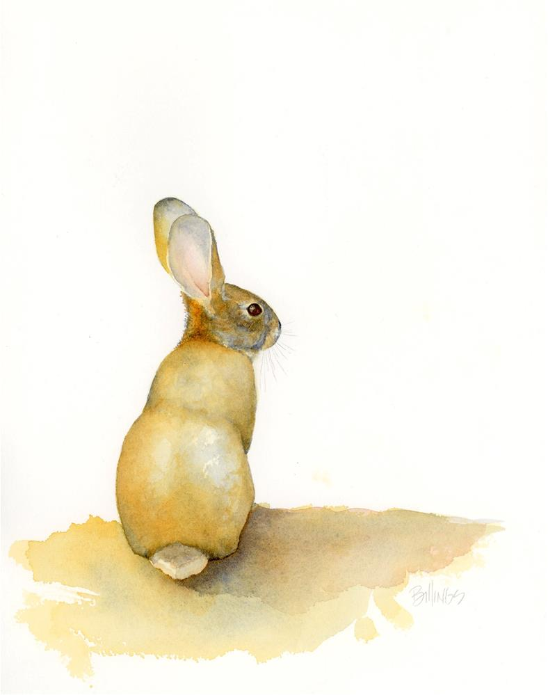 """Cottontail V"" original fine art by Susanne Billings"
