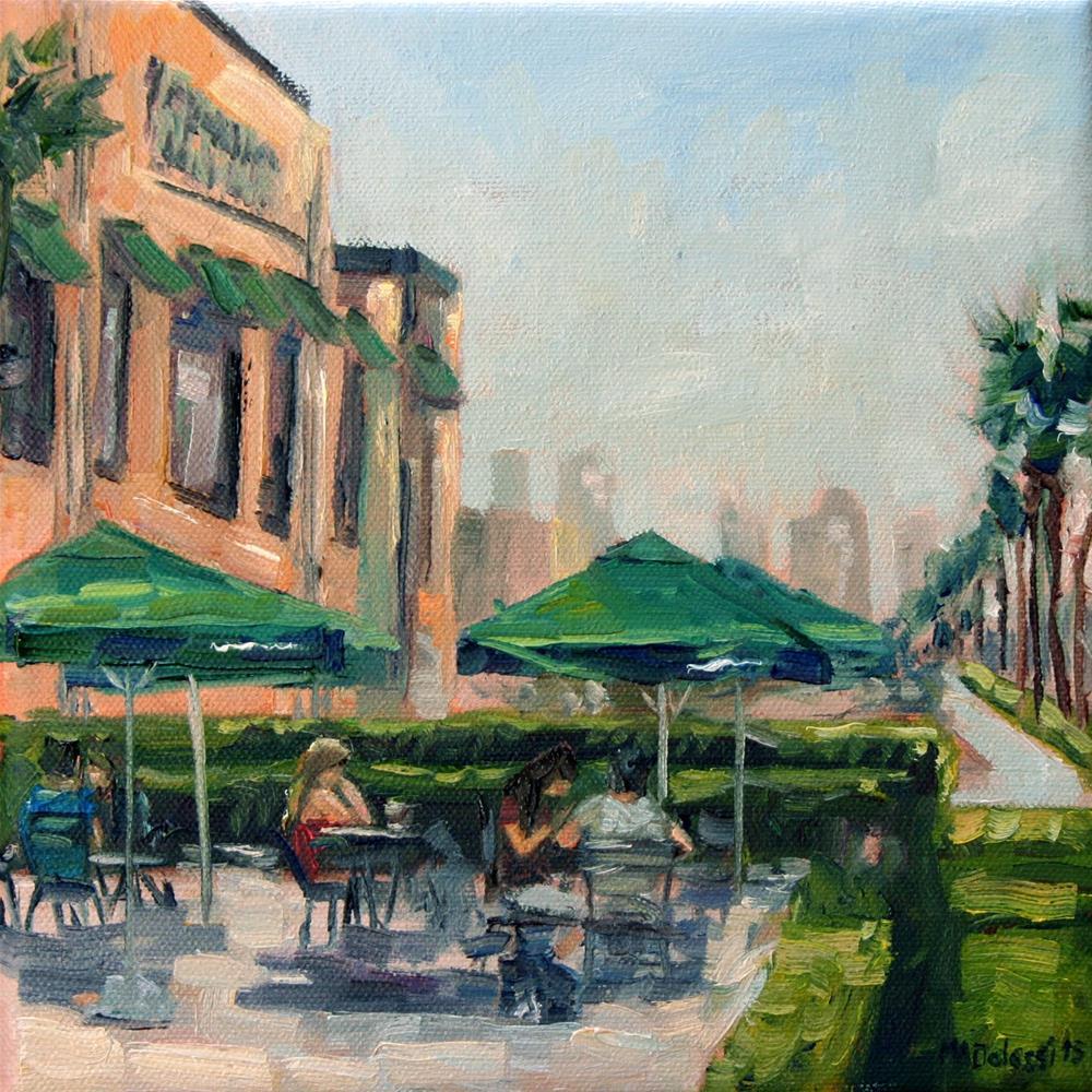 """Starbucks on the corner"" original fine art by Miranda Dalessi"