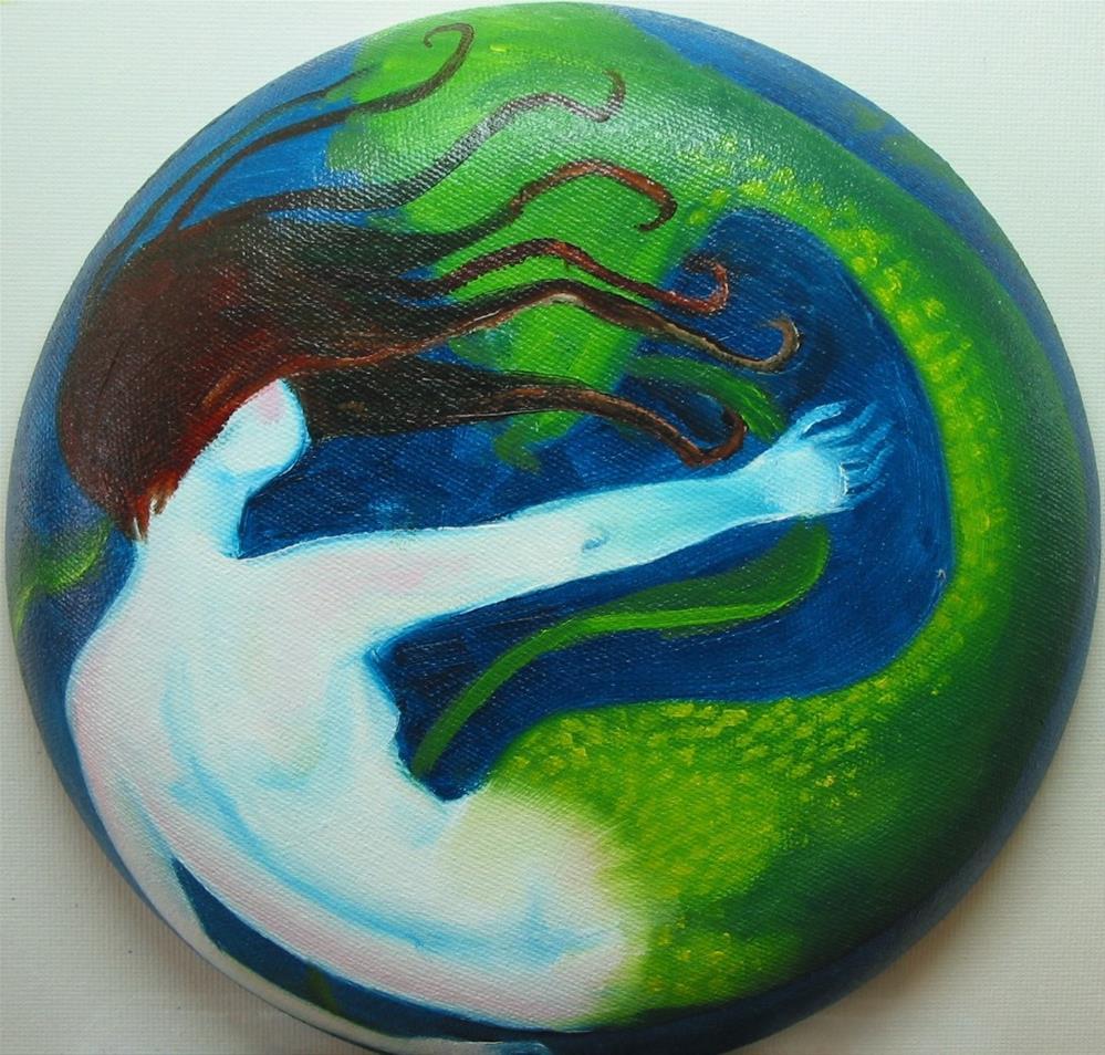 """Mermaid 2"" original fine art by Patricia Murray"