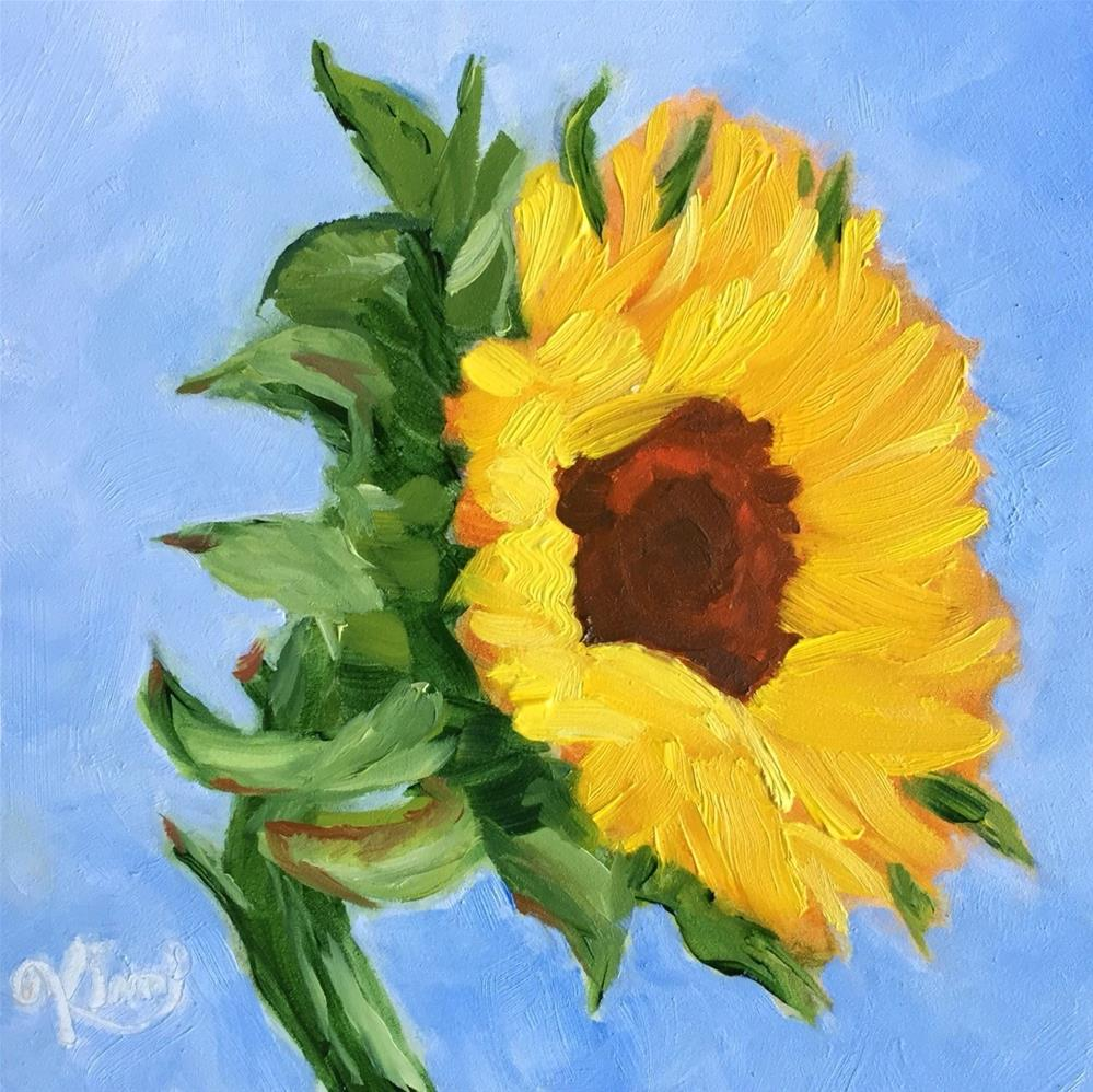 """sunflower study #1"" original fine art by Kim Peterson"