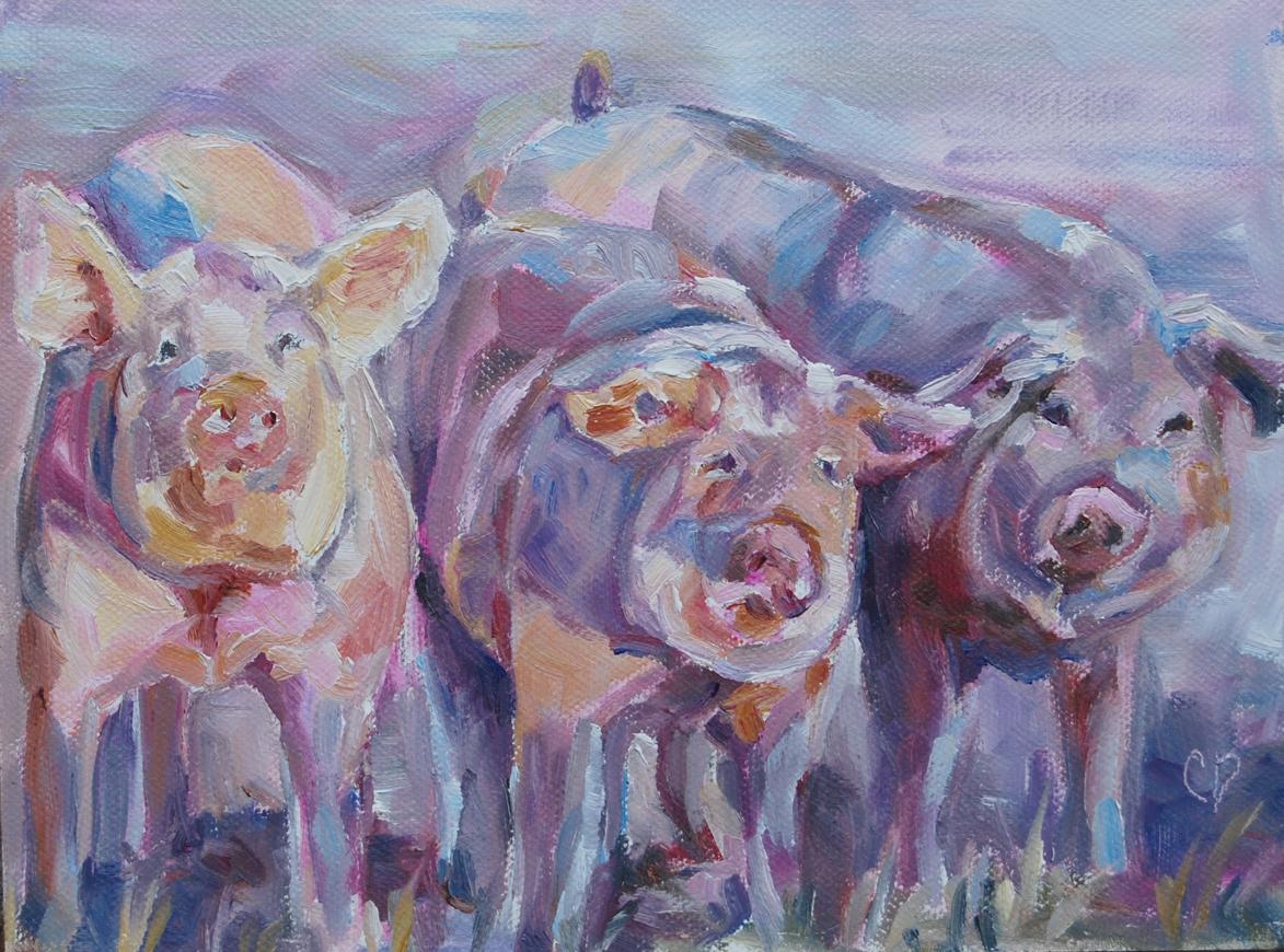 """Wilbur and Friends"" original fine art by Carol DeMumbrum"