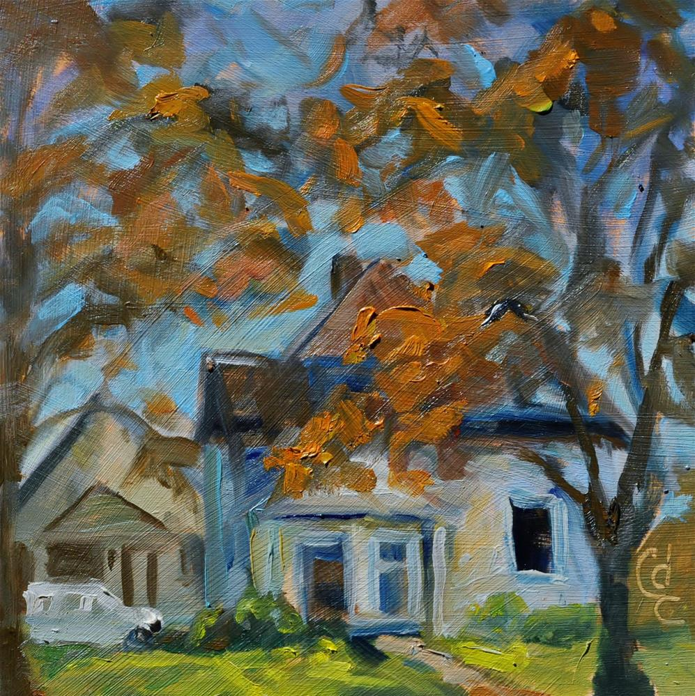 """Last House On the Block"" original fine art by Catherine Crookston"
