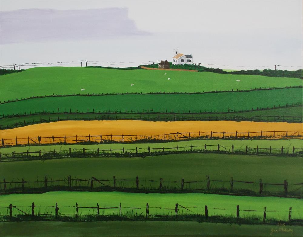 """""""Colorful Fields"""" original fine art by Jan Molesky"""