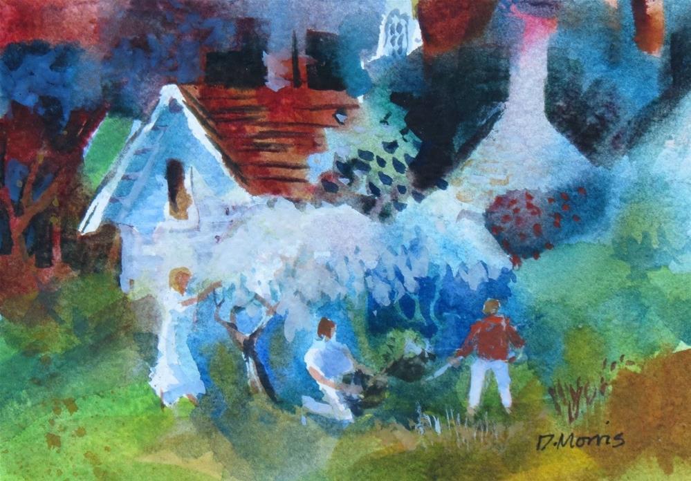 """""""The Garden"""" original fine art by Dann Morris"""