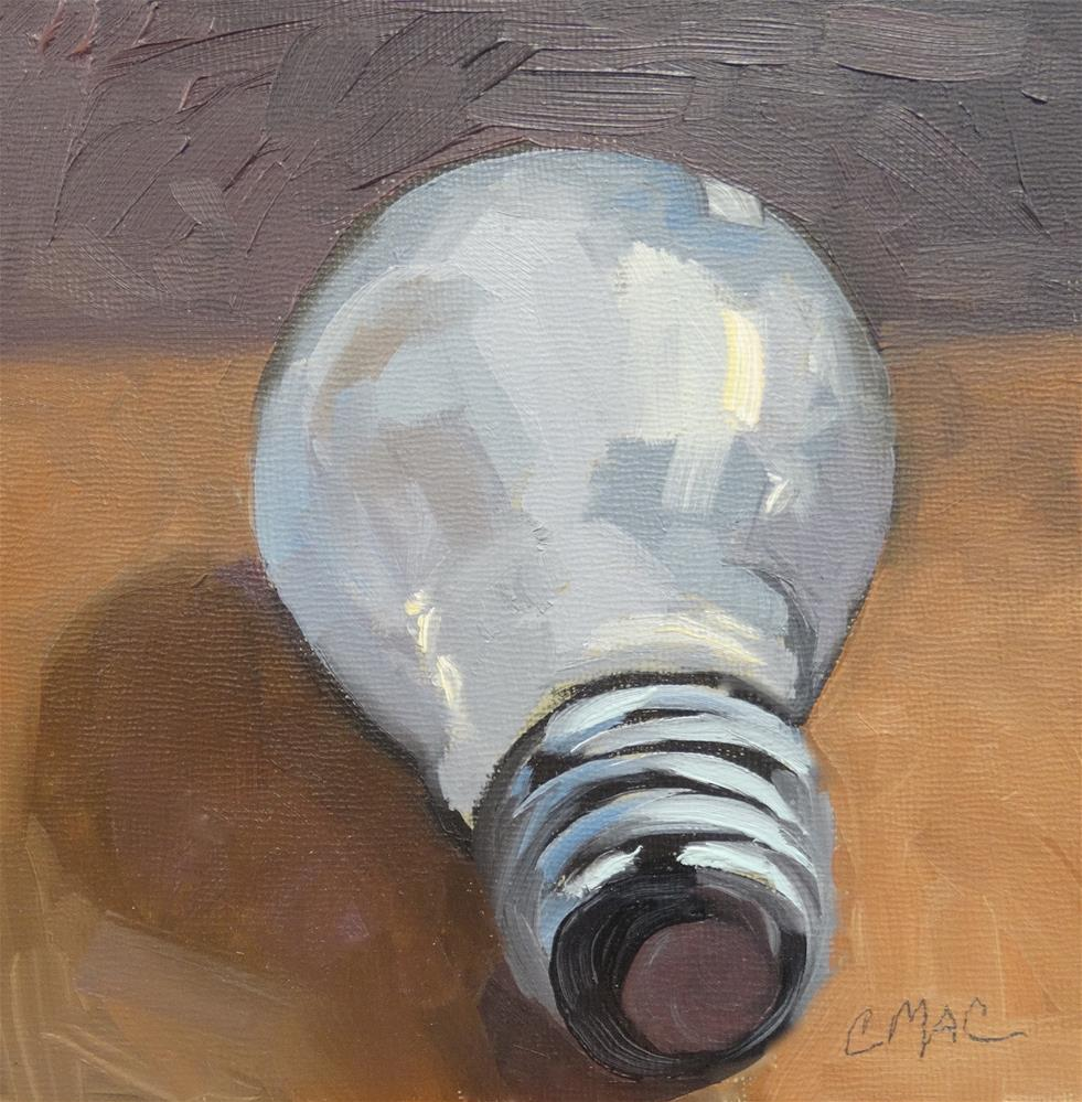 """I Have an Idea"" original fine art by Carolyn McDonald"