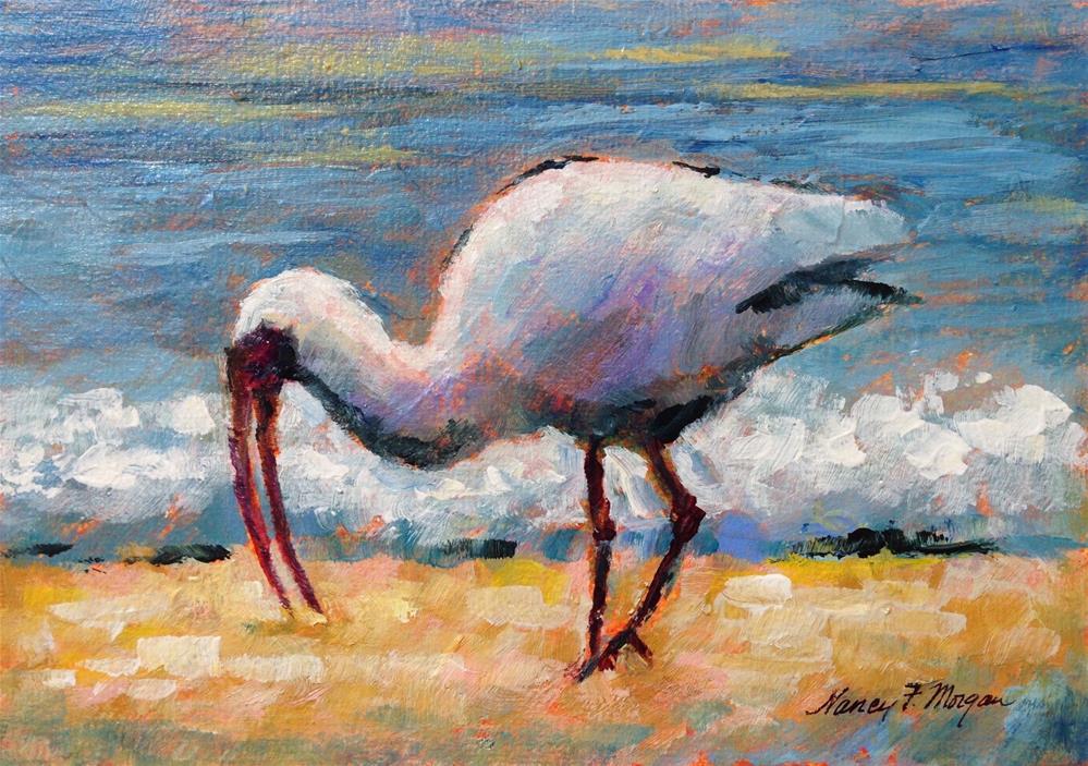 """Along the Shore"" original fine art by Nancy F. Morgan"