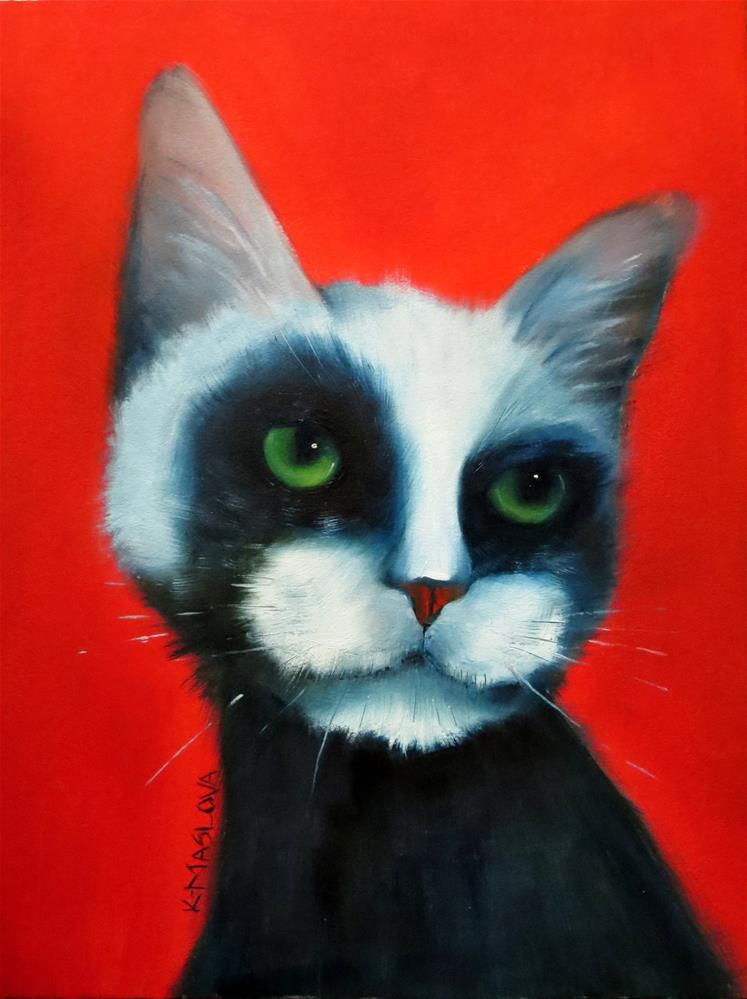 """Edgar"" original fine art by Kulli Maslova"