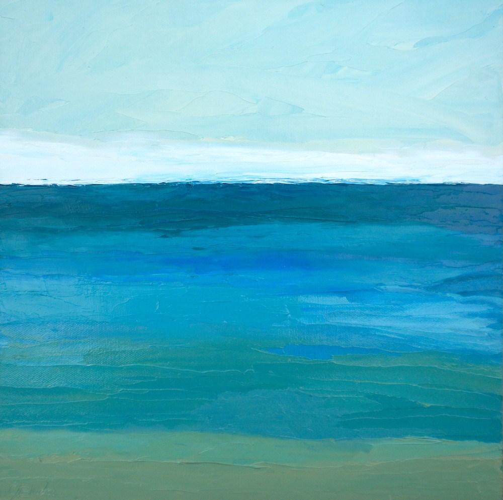 """Ocean Series 2 Framed"" original fine art by Janet Bludau"