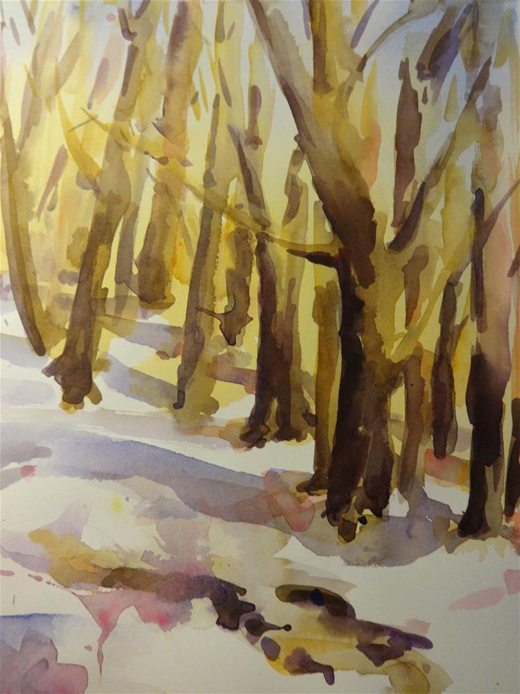 """""""Cold Woods"""" original fine art by angela scully"""