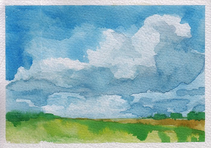 """Small Cloudscape 2"" original fine art by J M Needham"