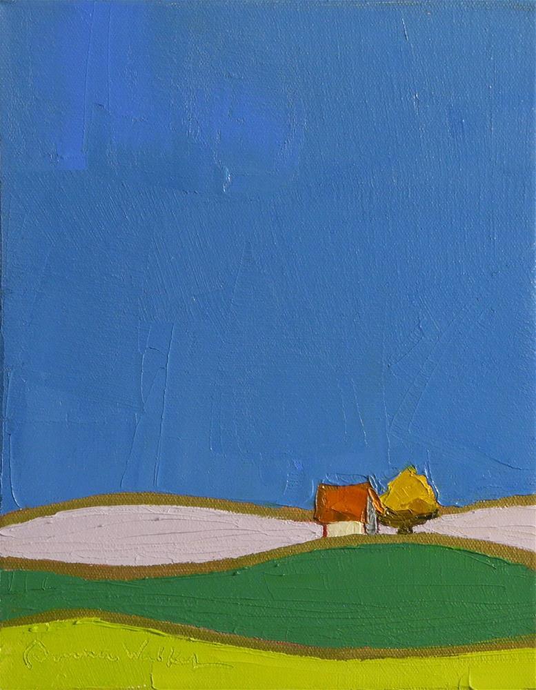 """""""A Bit of Green"""" original fine art by Donna Walker"""