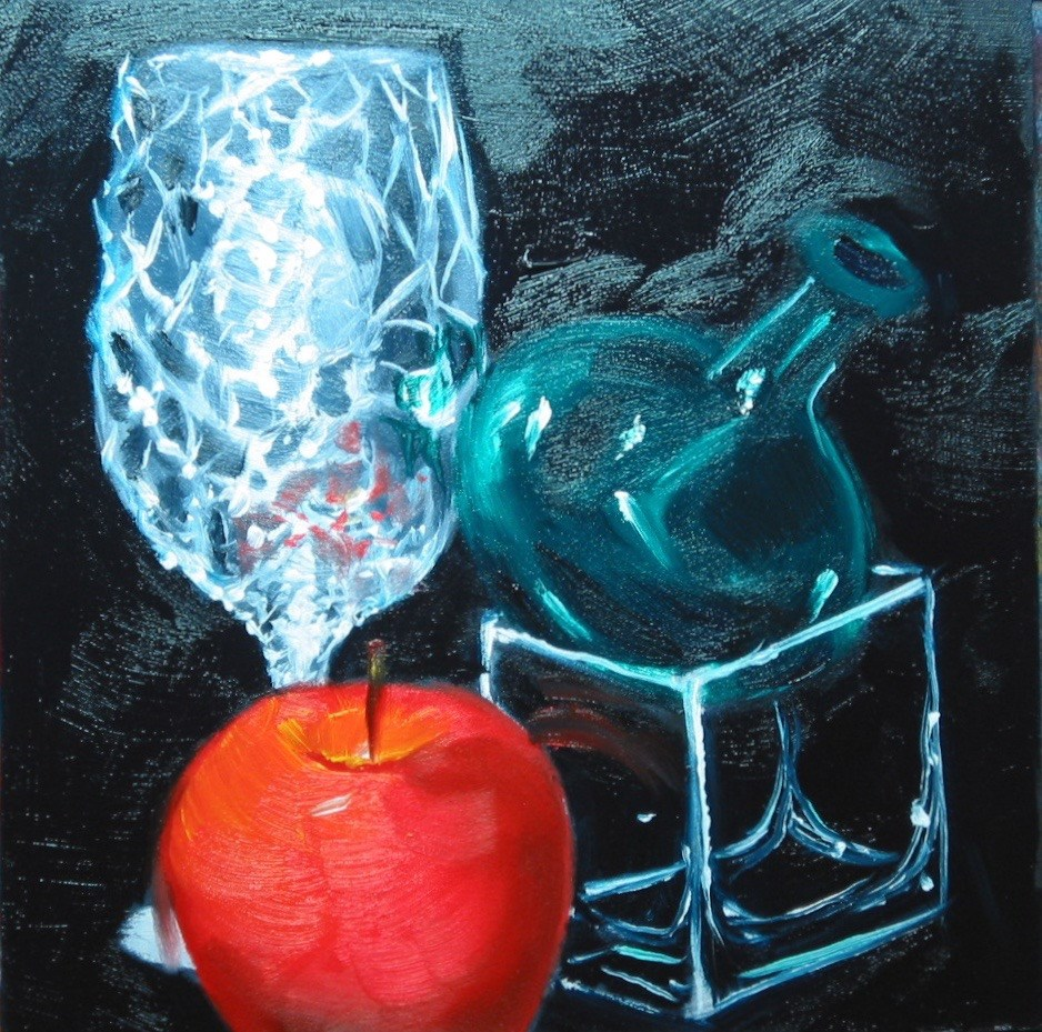 """Foiled Wine Glass"" original fine art by Patricia Murray"