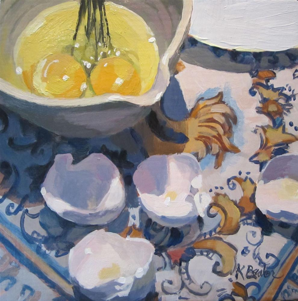 """Breakfast Prep"" original fine art by Kaethe Bealer"