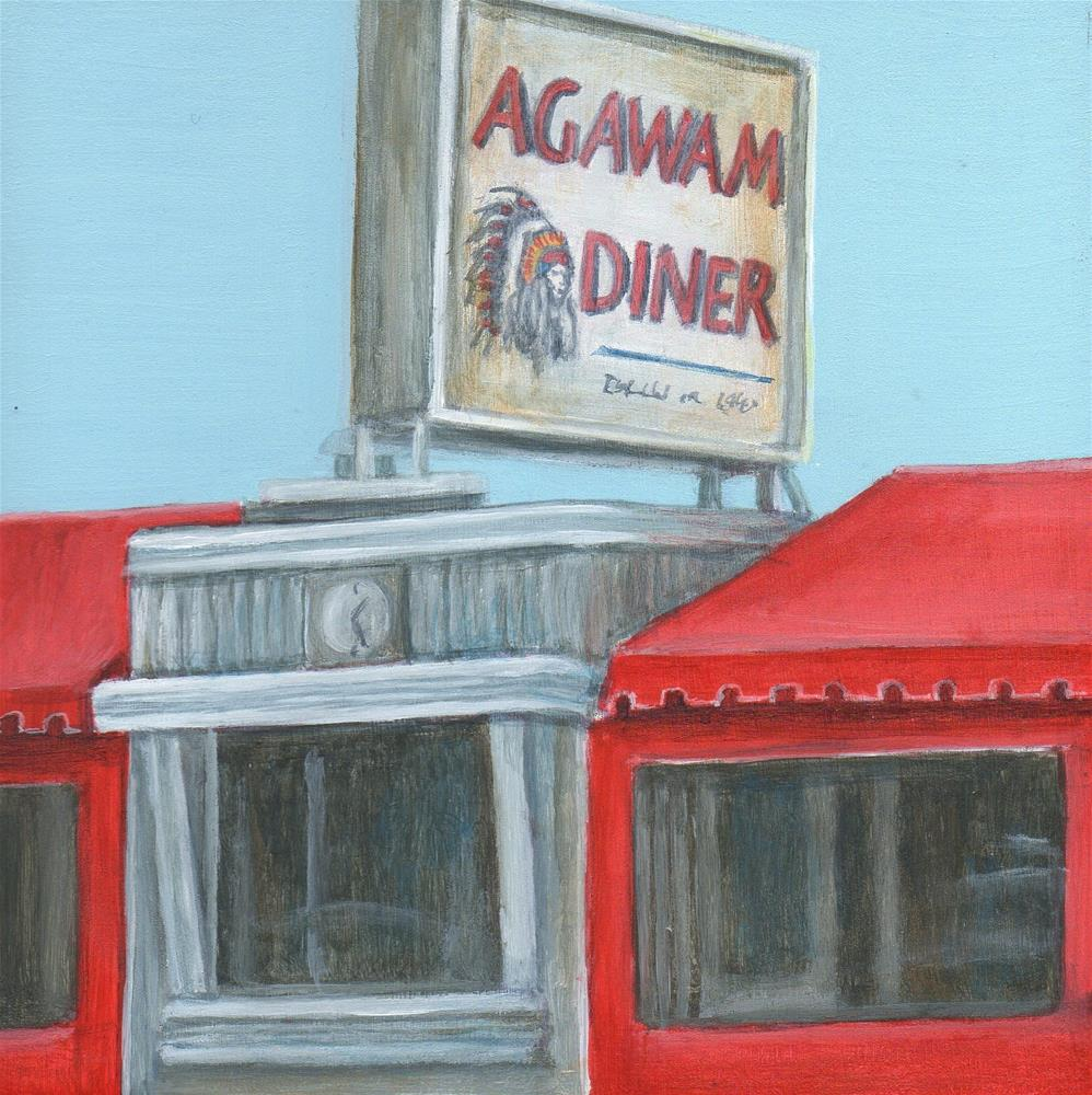 """Agawam Diner"" original fine art by Debbie Shirley"