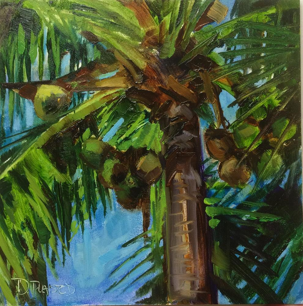 """Fort Myers Coconuts"" original fine art by Diane Plaisted"