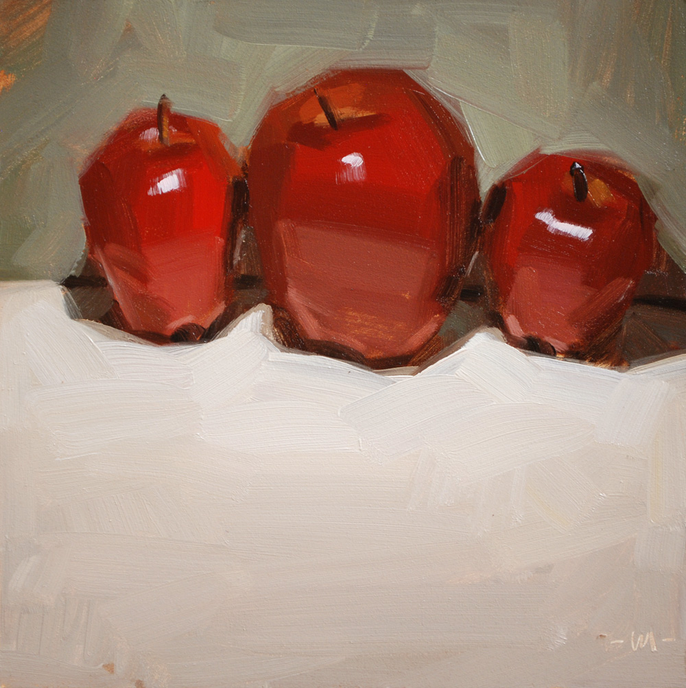 """Shiny Three"" original fine art by Carol Marine"