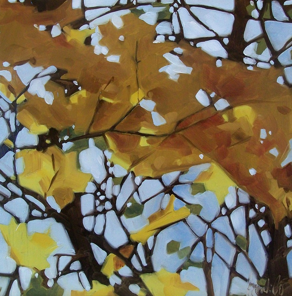 """Golden leaves"" original fine art by Brandi Bowman"