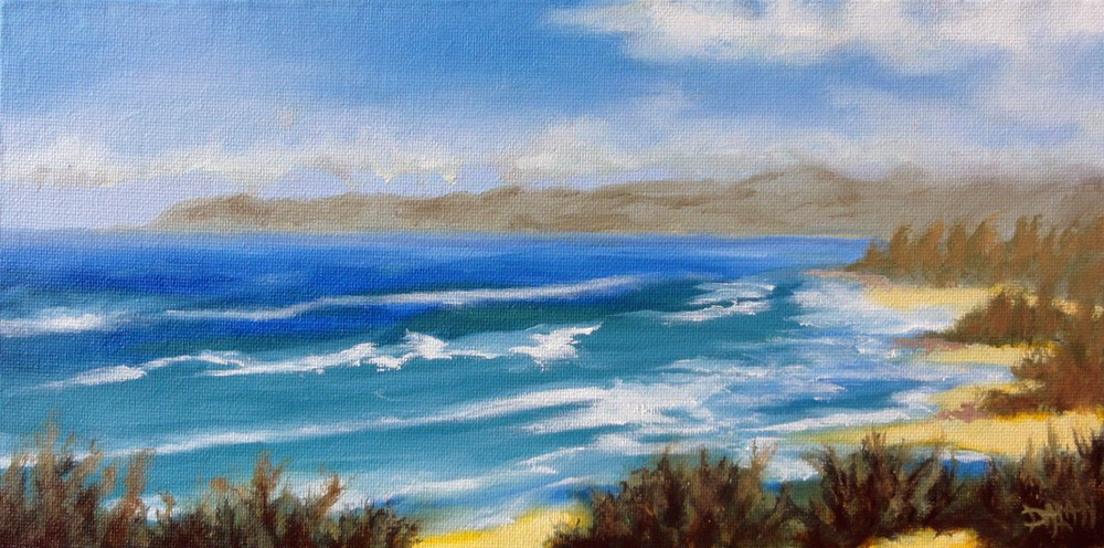 """North Shore Oahu From The West"" original fine art by Dalan Wells"