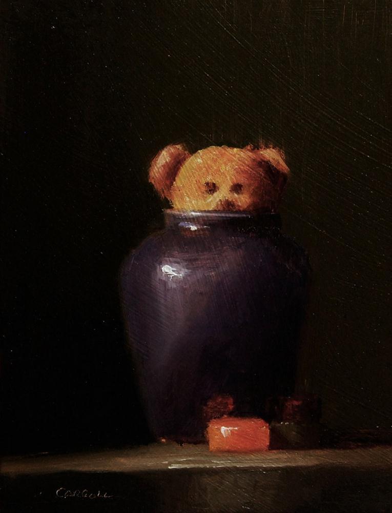 """Bear and Wine Gums - study"" original fine art by Neil Carroll"