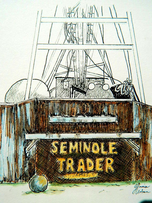 """SemiNole Trader"" original fine art by Gloria Urban"