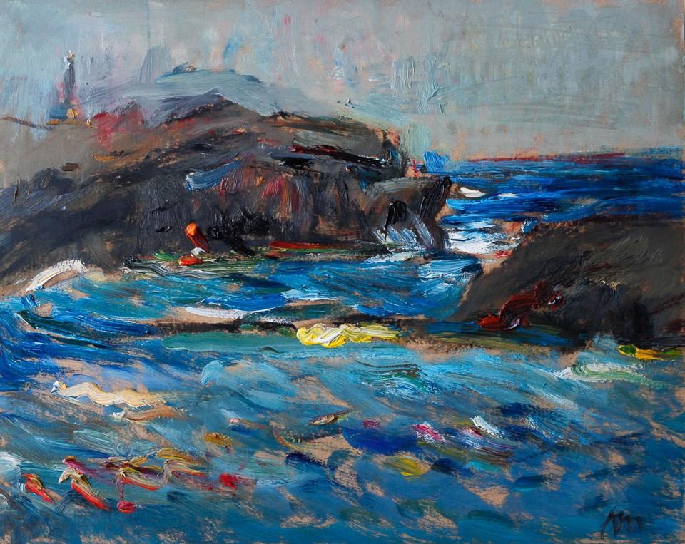 """On a Windy Morning"" original fine art by Anna Fine Art"