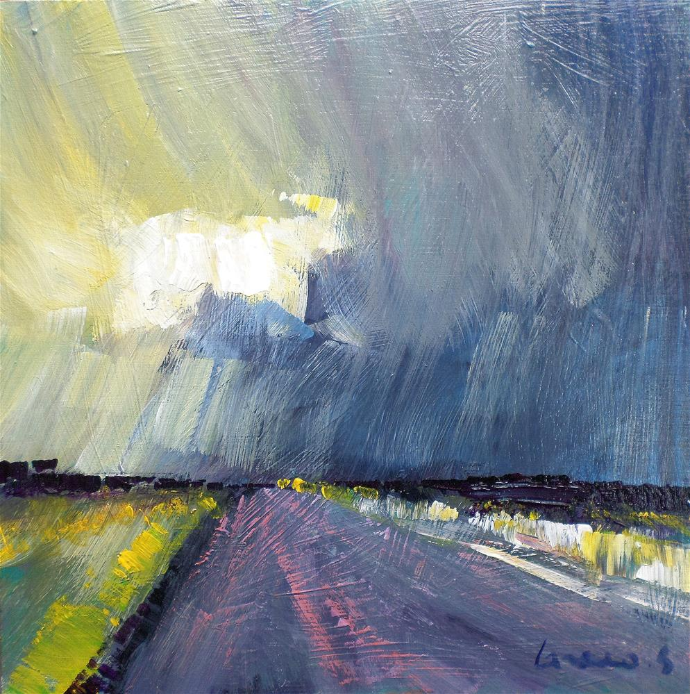 """light on the road"" original fine art by salvatore greco"
