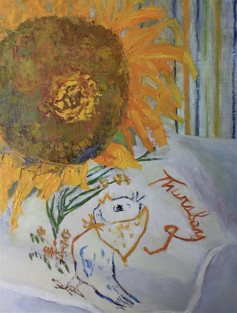 """On Thursday Give Thanks"" original fine art by Pamela Sweet"