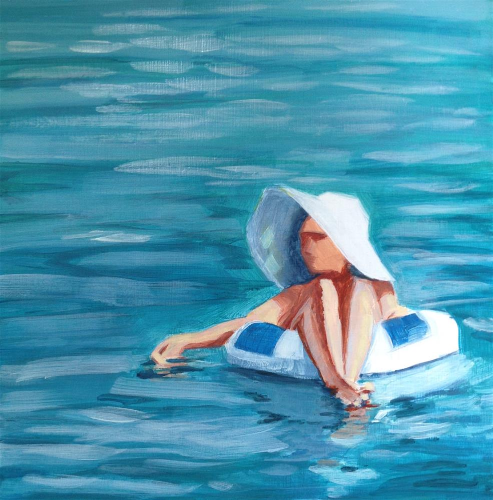 """Lounging Lady-2"" original fine art by Bev Thibault"