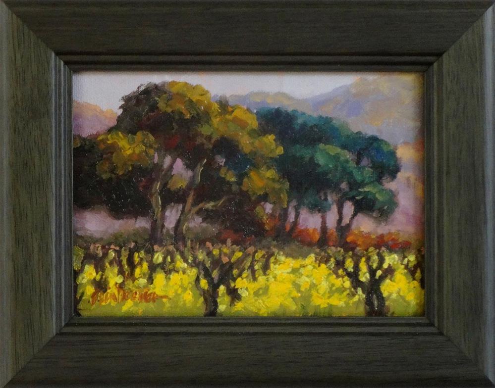 """Mustard Season"" original fine art by Erin Dertner"