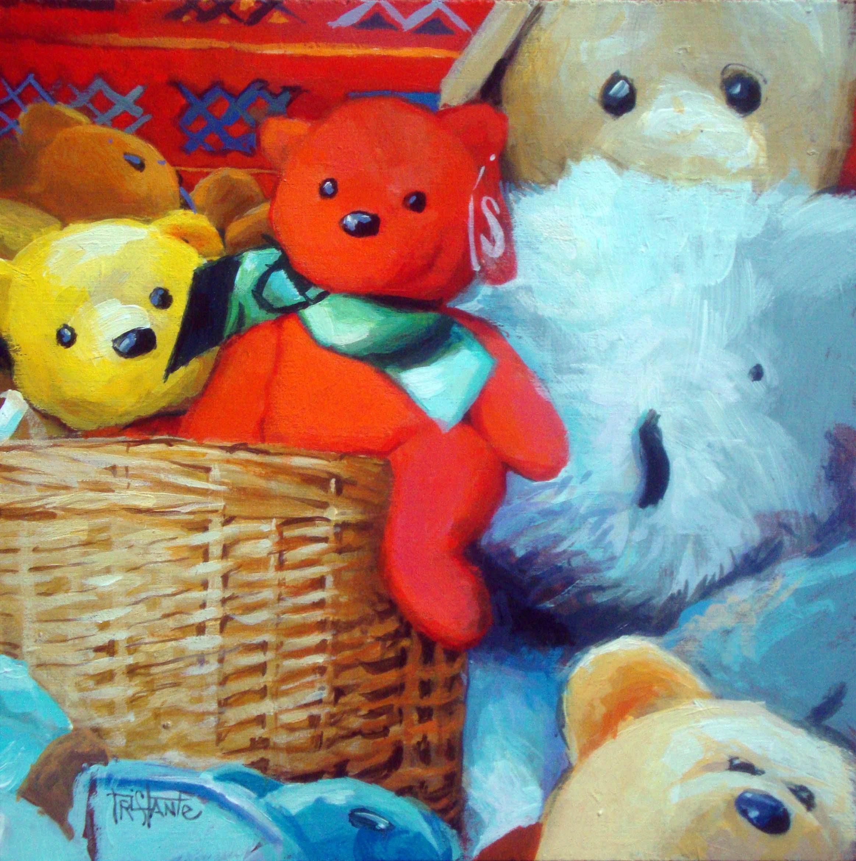 """Teddy Bears"" original fine art by Víctor Tristante"