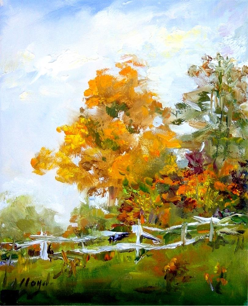 """Blue Ridge Autumn"" original fine art by Diane Lloyd"