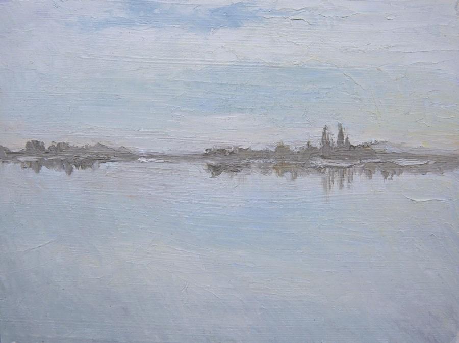 """""""Palic Lake"""" original fine art by Jethro Knight"""