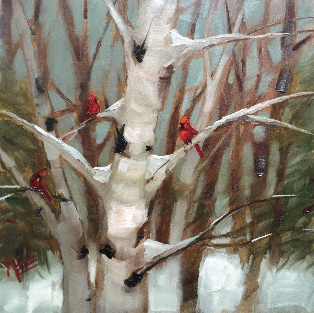 """""""Winter Visitors"""" original fine art by Krista Eaton"""