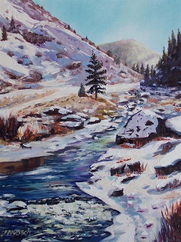 """""""Sunny Snow"""" original fine art by Donna Munsch"""