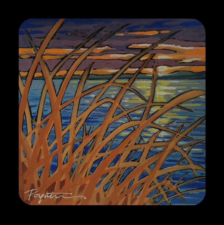 """""""3.07 Seagrass Sunset"""" original fine art by Jan Poynter"""