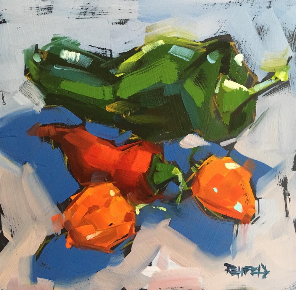 """Jalapeño Hot"" original fine art by Cathleen Rehfeld"