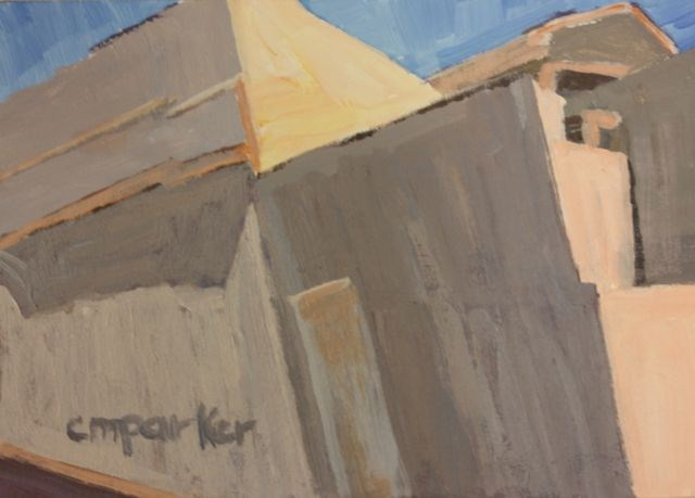 """Buildings in Valparaiso, Chile"" original fine art by Christine Parker"