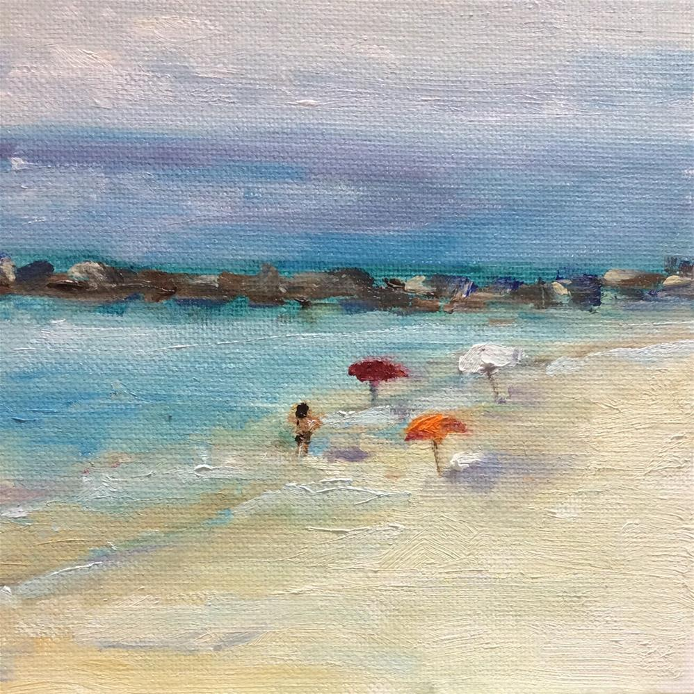 """""""By the sea"""" original fine art by Peggy Schumm"""