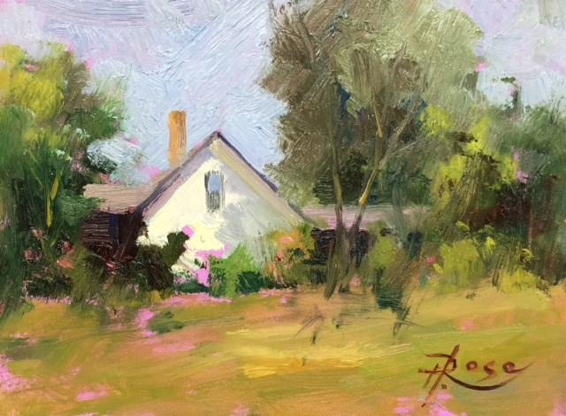 """Summer home 2"" original fine art by Howard Rose"