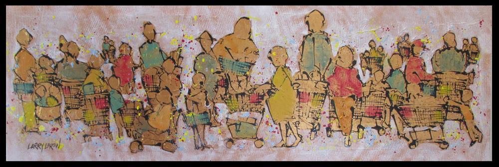 """""""Ten Items Or Less by Larry Lerew #141107"""" original fine art by Larry Lerew"""