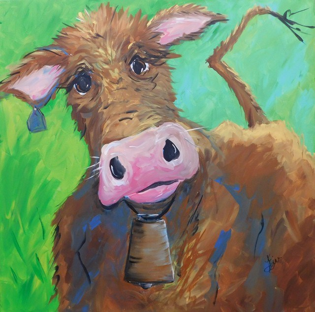 """Chocolate Milk"" original fine art by Terri Einer"