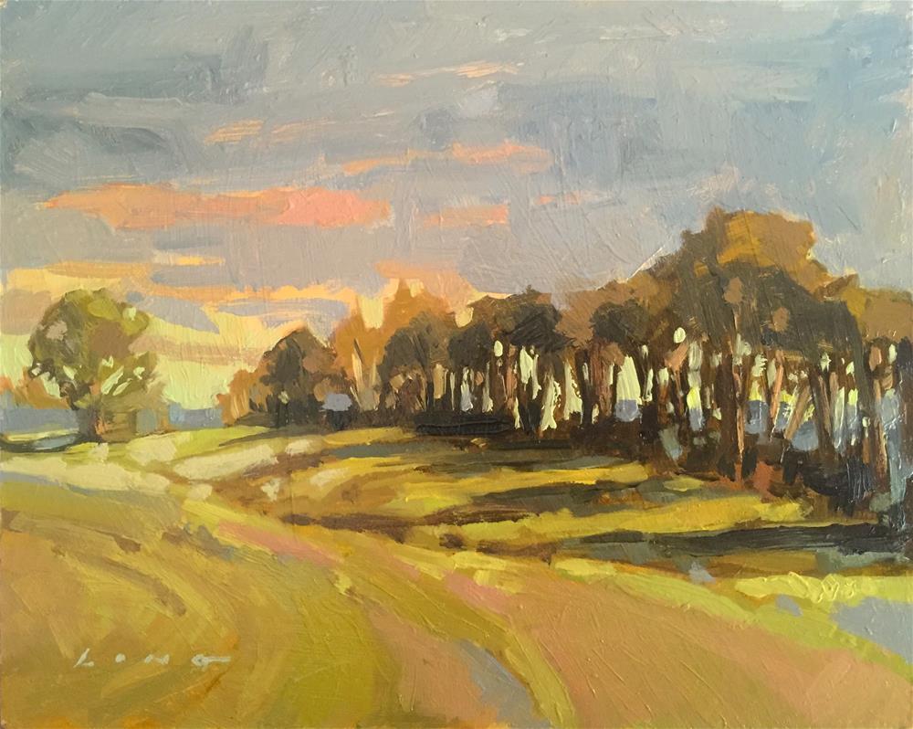 """Farm Morning II"" original fine art by Chris Long"