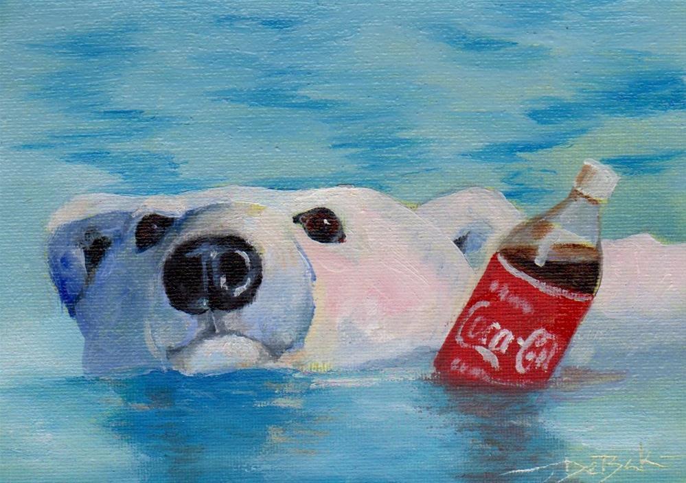 """polar bear (challenge)"" original fine art by V. DeBak"
