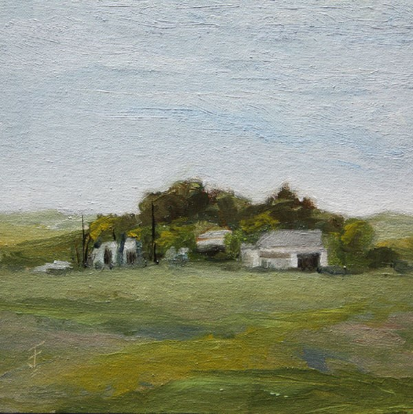 """Passing Farm"" original fine art by Jane Frederick"