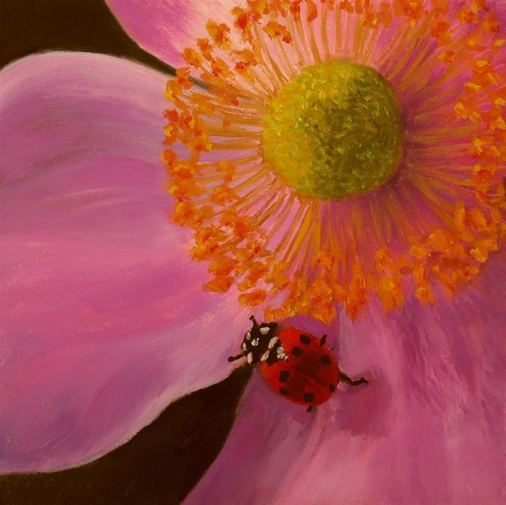 """""""Ladybug Ladybug"""" original fine art by Elizabeth Elgin"""