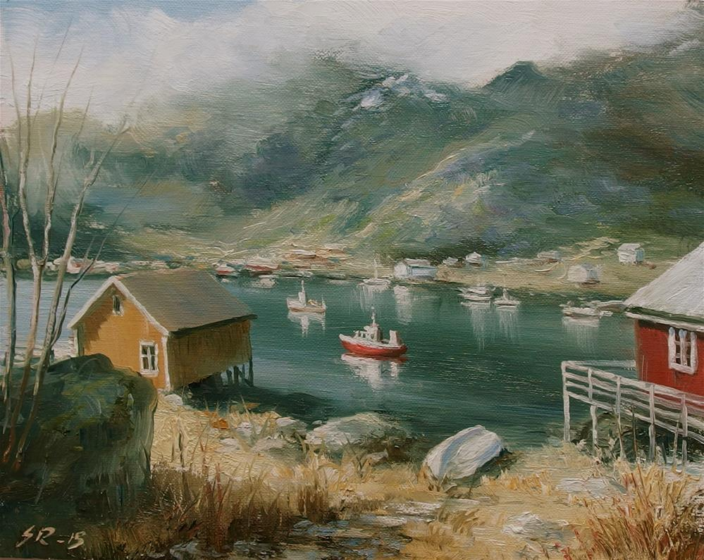 """Safe harbour"" original fine art by Stig Rosenlund"